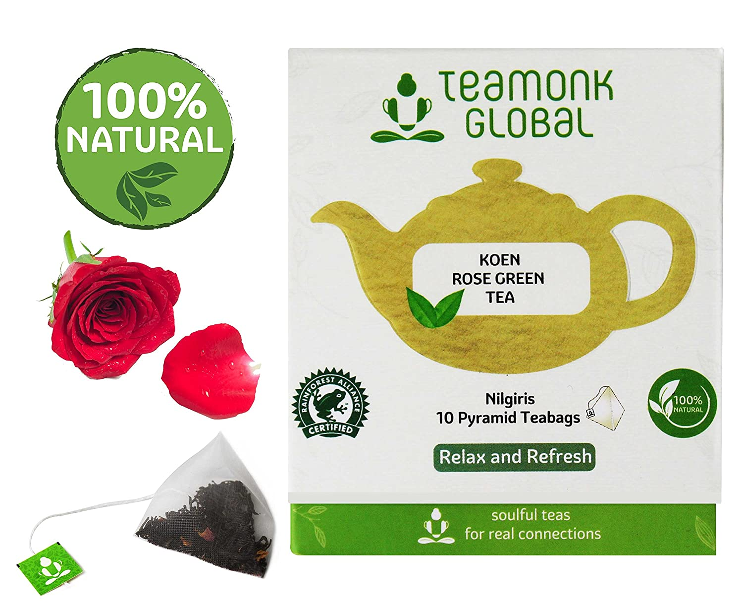 Amazon.com : Nilgiri Ginger Green Tea, 10 Teabags   Supports Weight Loss & Digestion   100% Natural Ginger with Whole Leaf Green Tea   No additives ...