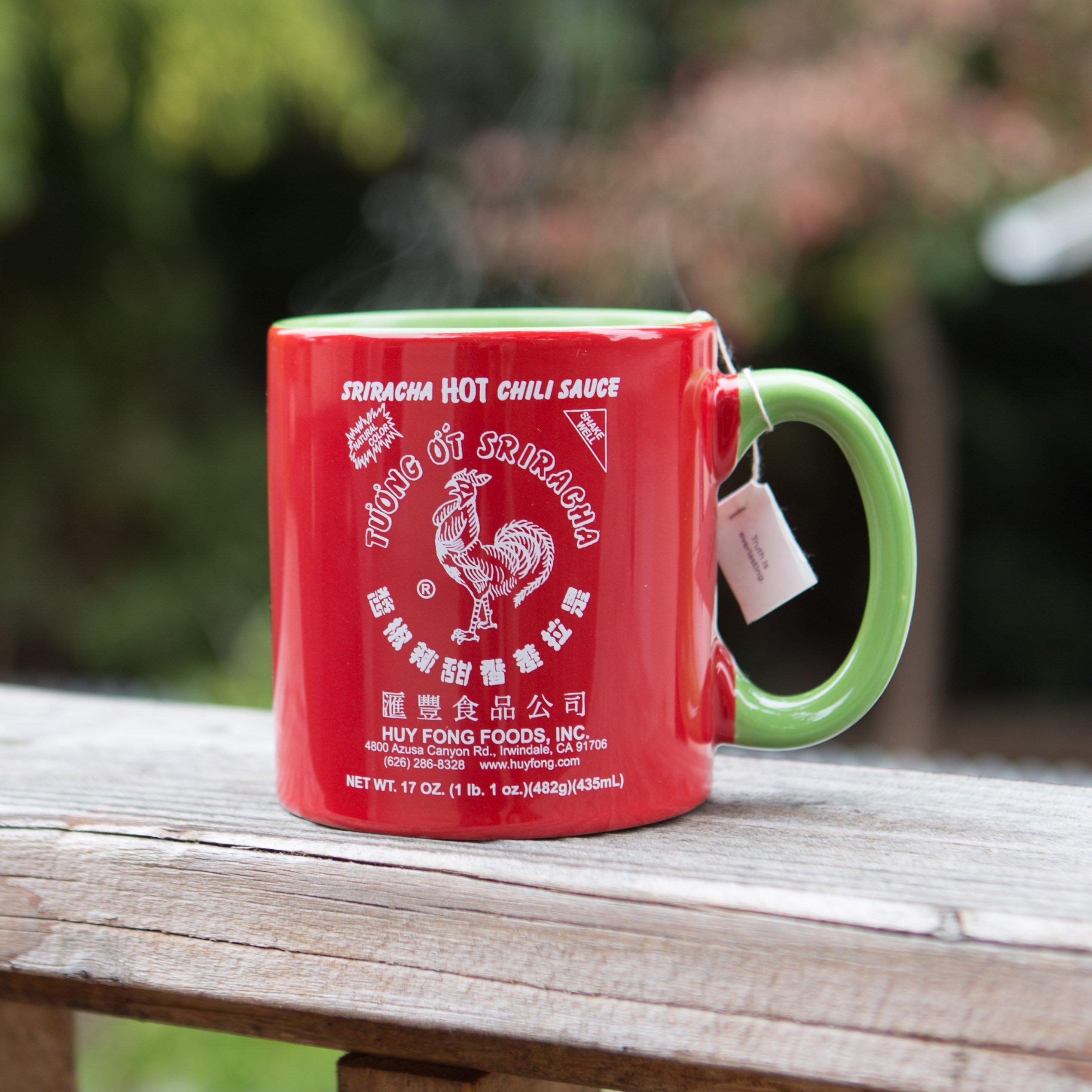 Large 20 oz Sriracha Hot Sauce Red And Green Ceramic Mug by Sriracha2Go (Image #3)