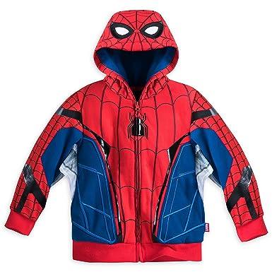 01a3eca14 Amazon.com: Disney Store Spiderman Spider Man Costume Hoodie Jacket ...