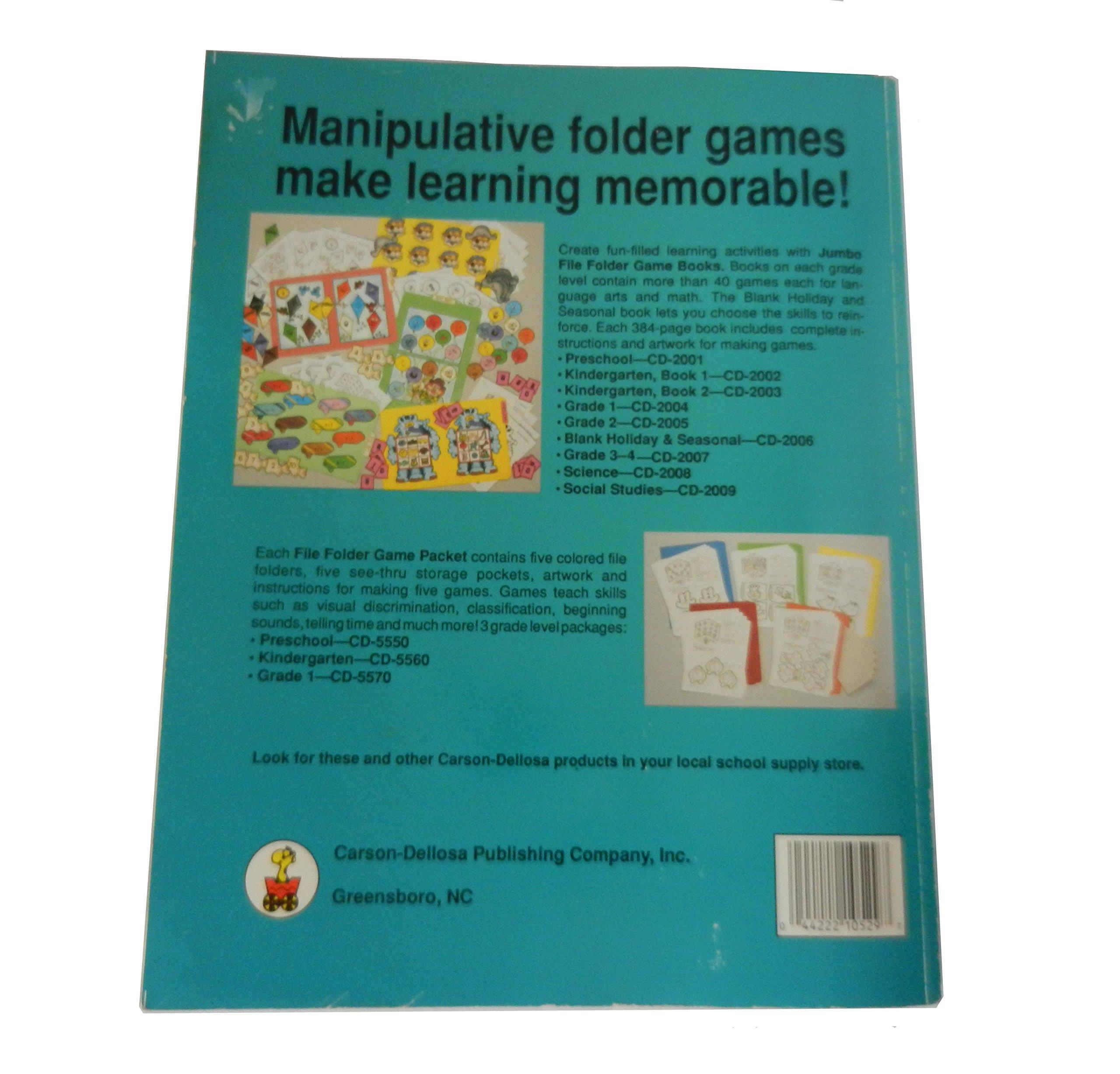 File Folder Games Reading and Math: Karen Finch: 0044222105297 ...