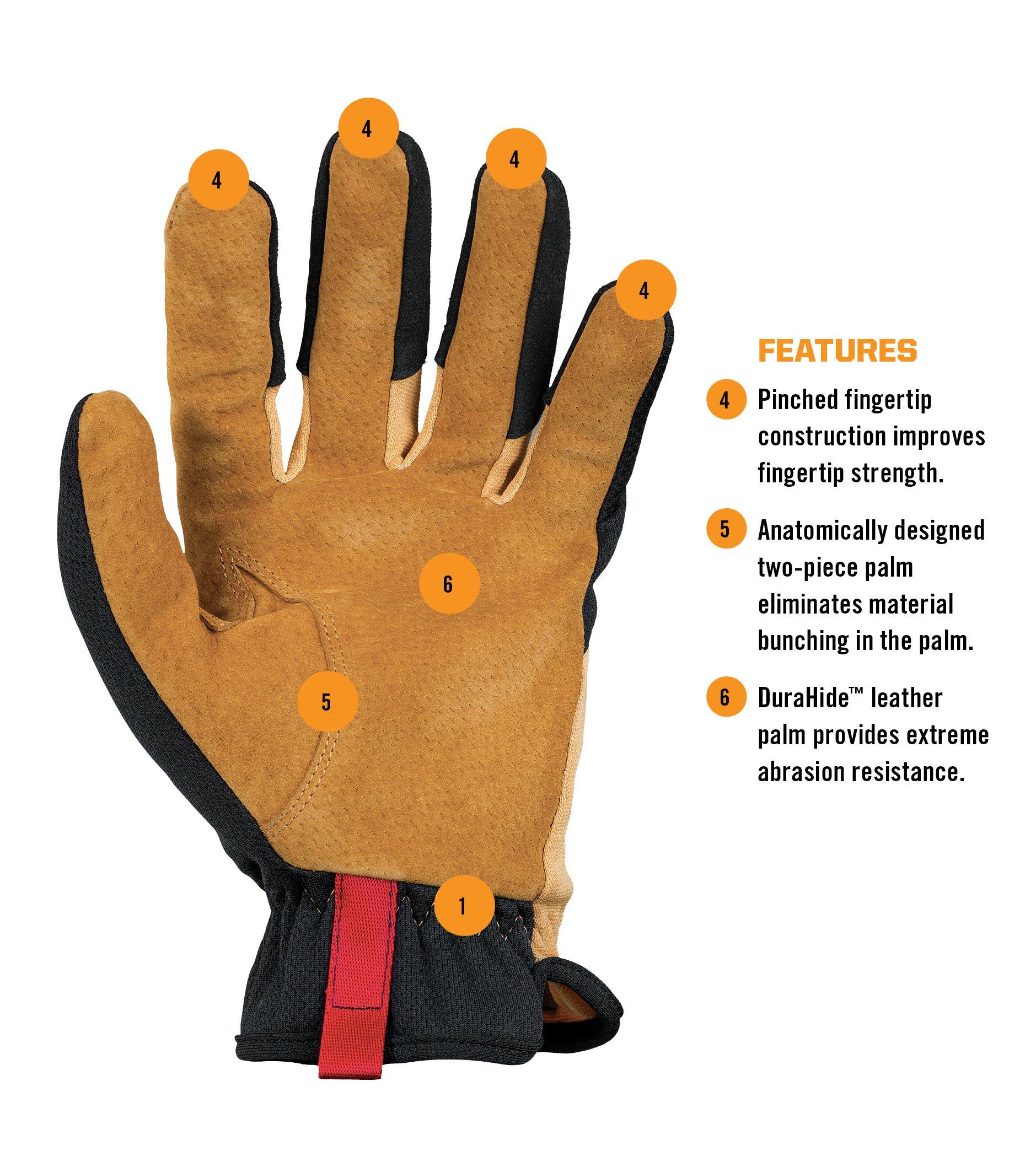 Mechanix Wear - Leather FastFit Gloves (Large, Brown/Black) by Mechanix Wear (Image #3)