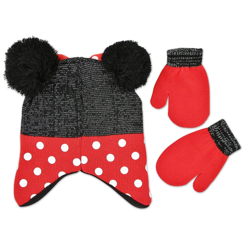Amazon.com: Disney Little Girls Minnie Mouse Polka Dots Acrylic Knit ...