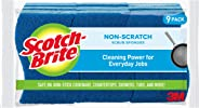 Scotch-Brite Non-Scratch Scrub Sponges, Cleaning Power for Everyday Jobs, Lasts 50% Longer than the Leading National Value B