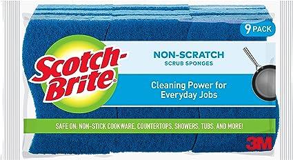 Scotch-Brite Non-Scratch Scrub Sponge, Cleaning Power for Everyday Jobs, 9 Scrub Sponges