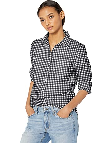d445b8351 Amazon Essentials Women's Classic-Fit Long-Sleeve Poplin Shirt