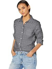 7d088961 Amazon Essentials Women's Classic-Fit Long-Sleeve Poplin Shirt