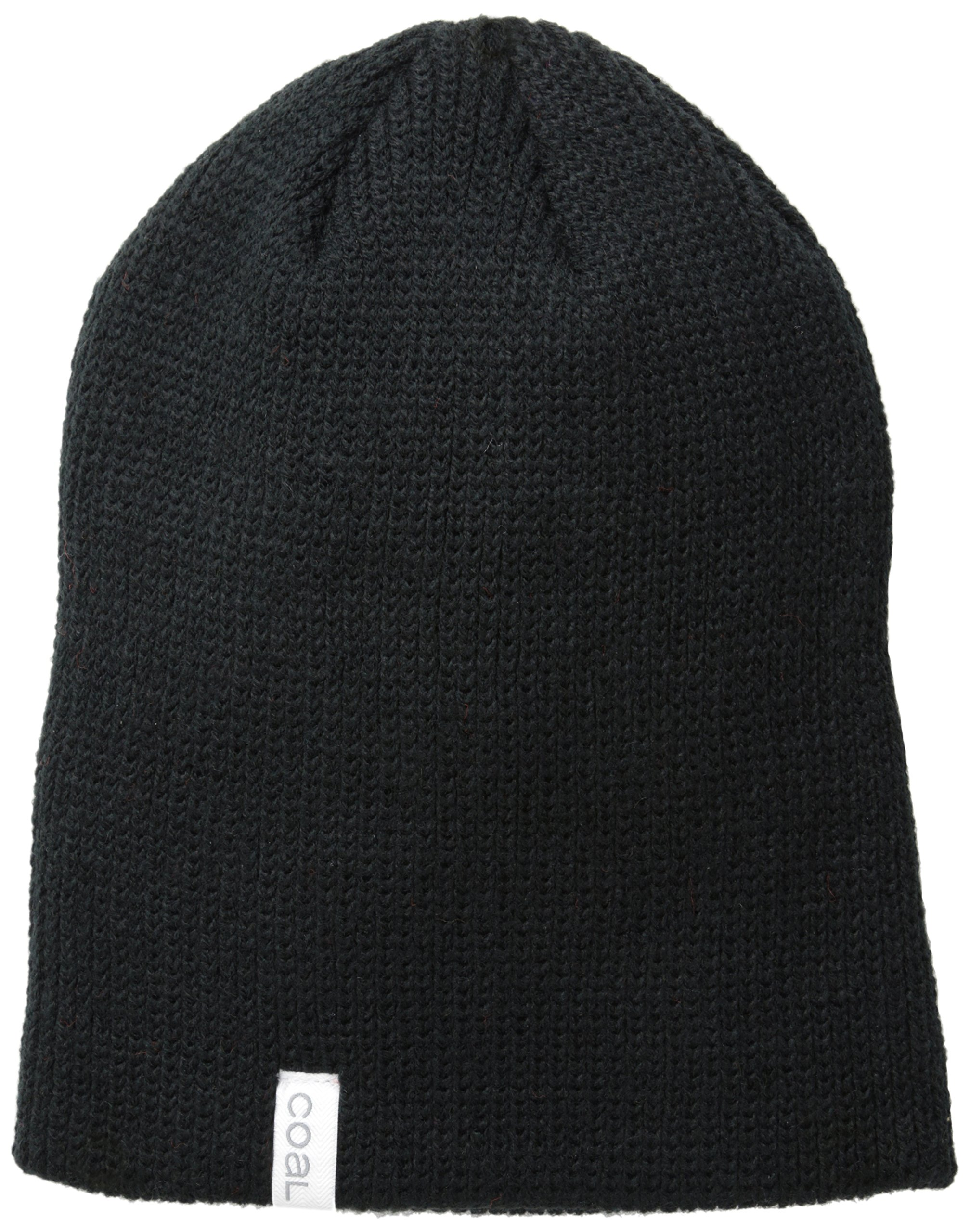 Coal Men's The Frena Solid Fine Knit Beanie Hat, Black, One Size