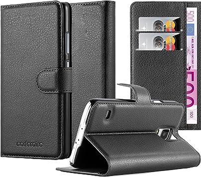 Cadorabo Funda Libro para Samsung Galaxy S5 / S5 Neo en Negro Fantasma: Amazon.es: Electrónica