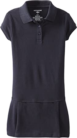 16 EDDIE BAUER GIRLS NAVY BLUE POLO SHIRT SCHOOL UNIFORM SHIRT SZ EX LARGE