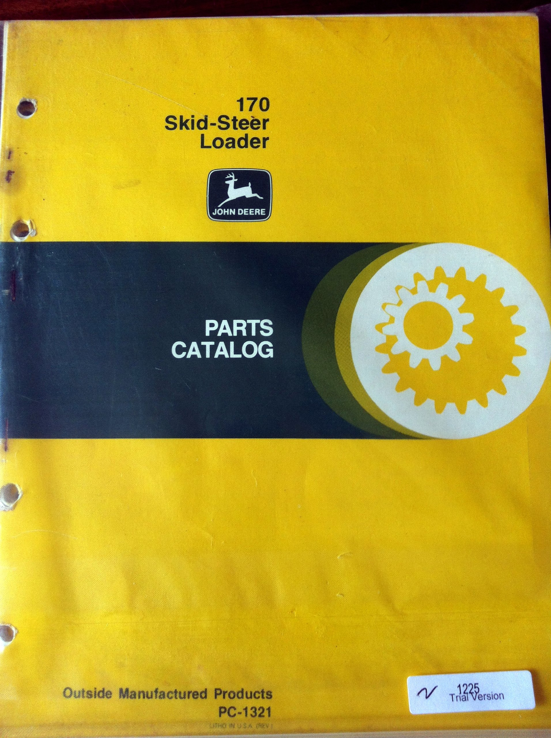 Amazon Com John Deere 170 Skid Steer Loader Parts Manual Books