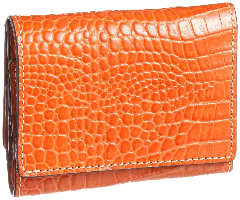 [エスクール] 三つ折り財布 スフィーダ 0533 B00D7WB3WW オレンジ オレンジ
