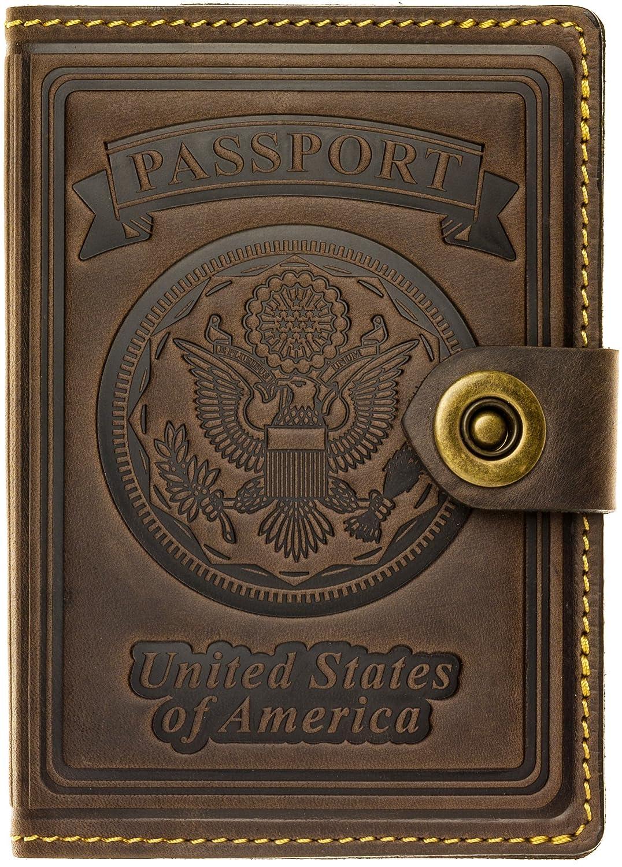 Villini Leather RFID-Blocking US Passport Holder