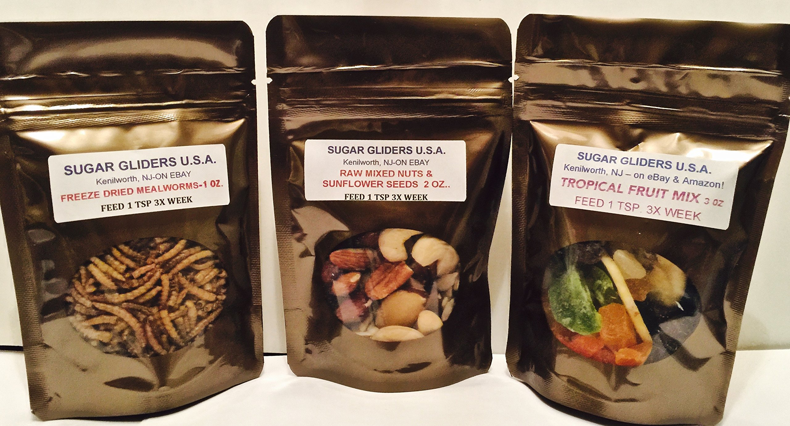 SMALL ANIMAL/SUGAR GLIDER TREATS(MEALIES,FRUIT,NUTS/SEEDS)