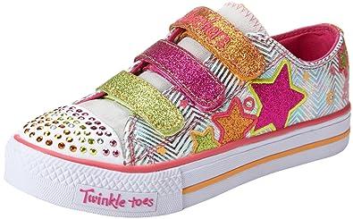 Skechers Kids 10249L Shuffles Triple Up Light up Sneaker (Little Kid)