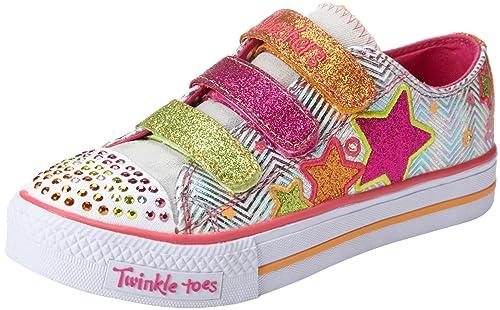 Skechers Shuffles Triple Up SHUFFLES - TRIPLE UP - K - Zapatillas de lona para niña, color blanco, talla 26: Amazon.es: Zapatos y complementos