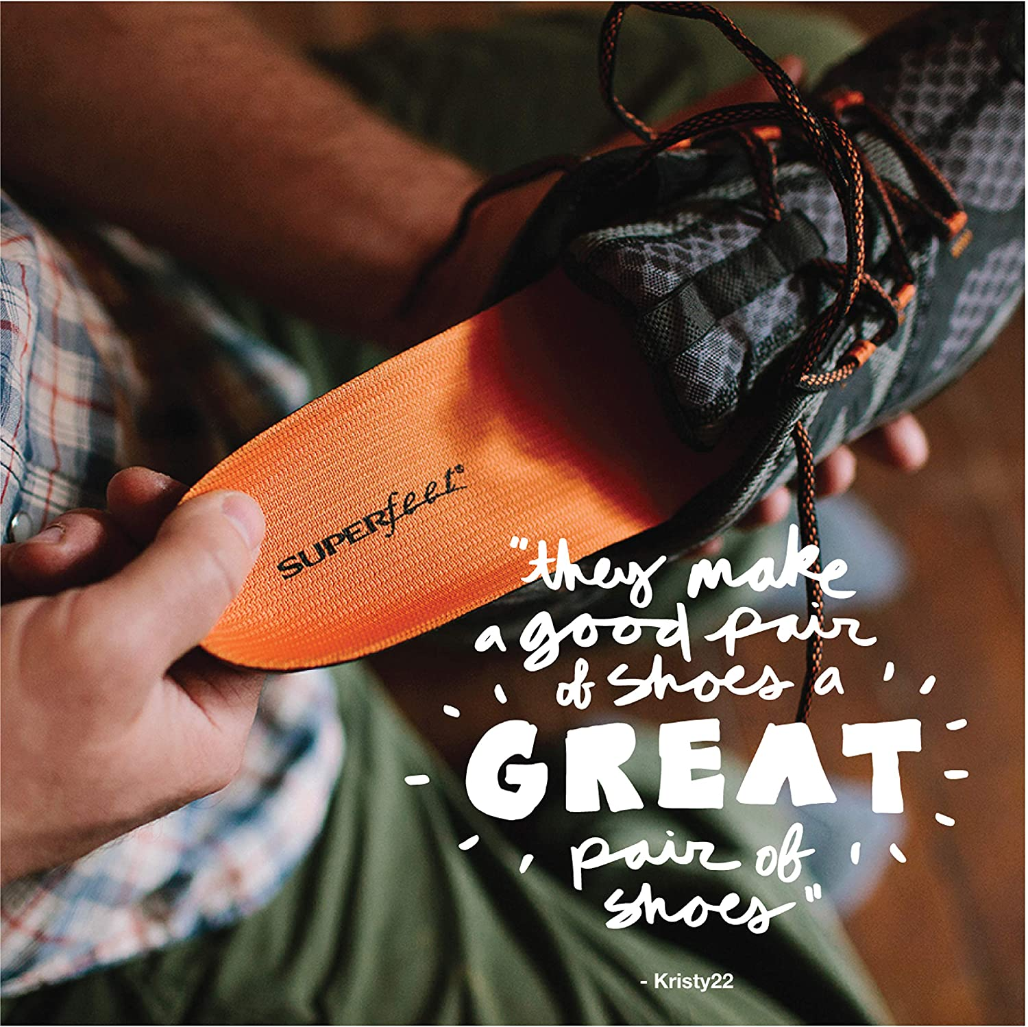 Superfeet ORANGE Insoles, High Arch Support and Forefoot Cushion, Orthotic Shoe Inserts for Anti-fatigue, Unisex, Orange: Shoes