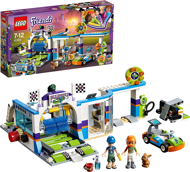 LEGO Friends - Autolavado con Cepillos Giratorios, Juguete con Mini Muñecas y Kart de Carreras para Construir y Jugar, Incluye Figura de Twister (41350) , color/modelo surtido