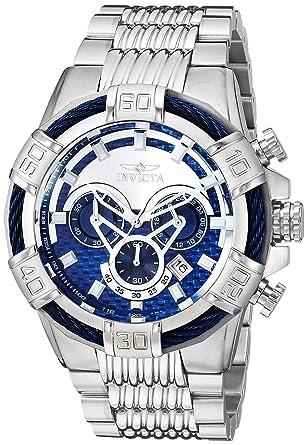 d3de8bfcd Amazon.com: Invicta Men's Bolt Quartz Watch with Stainless-Steel Strap,  Silver, 26 (Model: 25541): Watches