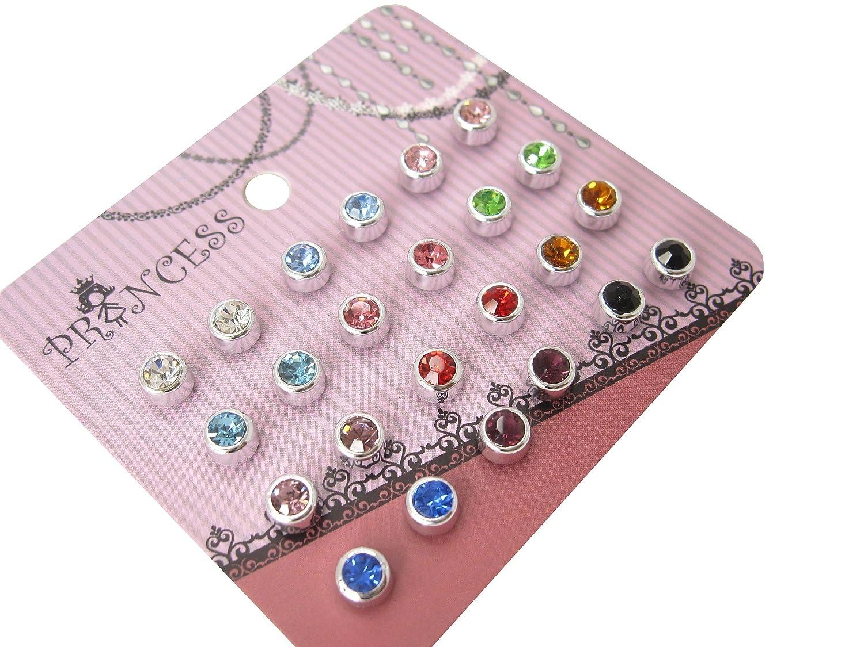 4mm Color Crystal Magnetic Stud Earrings for Kids Girl Women ...