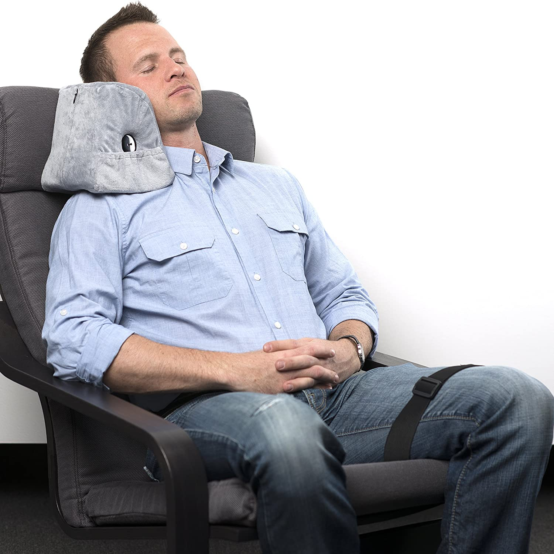 HERIGGA Travel Pillow Neck Memory Foam Portable Pillow for Airplanes Cars Buses Office U Shape Pillow with Velvet Cover