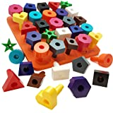 Peg board Shapes Puzzle 38pc