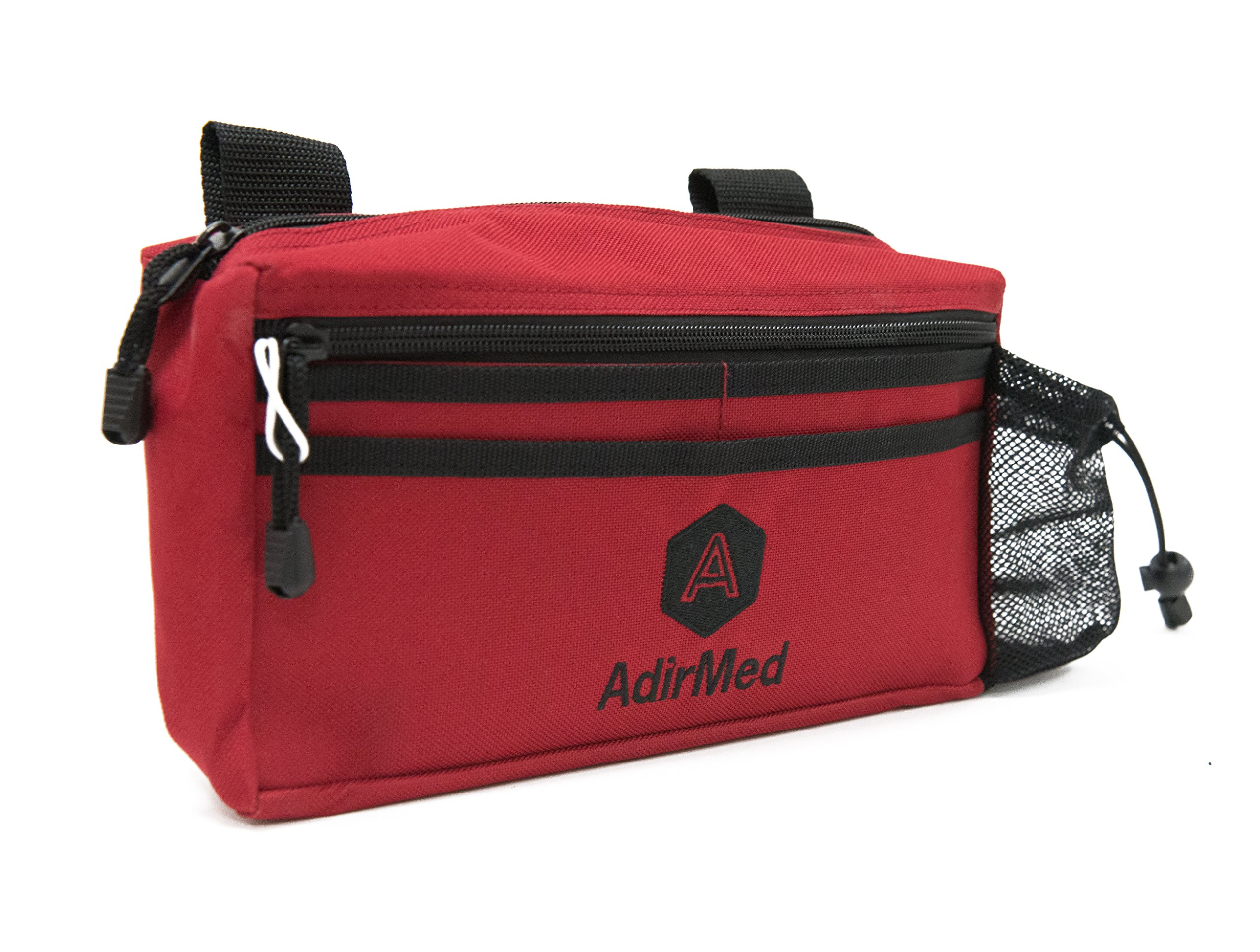 AdirMed Wheelchair Pouch - Rollator Pouch - Walker Pouch - Red