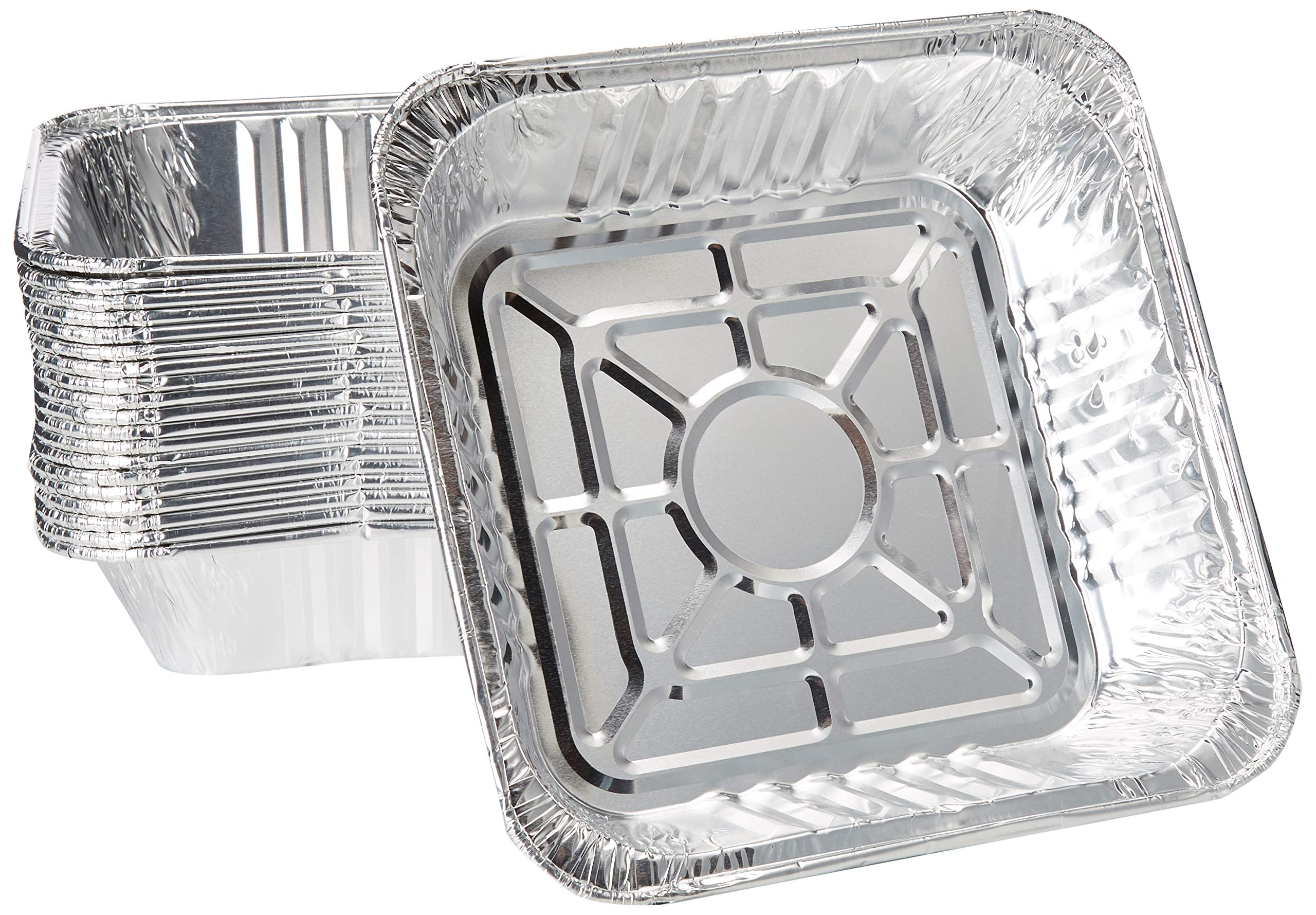 10'' x 10'' Strong Aluminum Square -Poultry- Baking Pans (Pack of 20) - Great For Transporting - Disposable Silver Foil Cooking Tins - Ideal for Poultry, Coffee Cakes, by DCS Deals