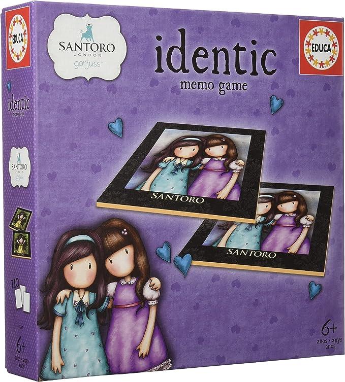 Educa- Identic Gorjuss Juego Educativo de Memoria para niños, 110 Cartas, a Partir de 6 años (17292): Amazon.es: Juguetes y juegos