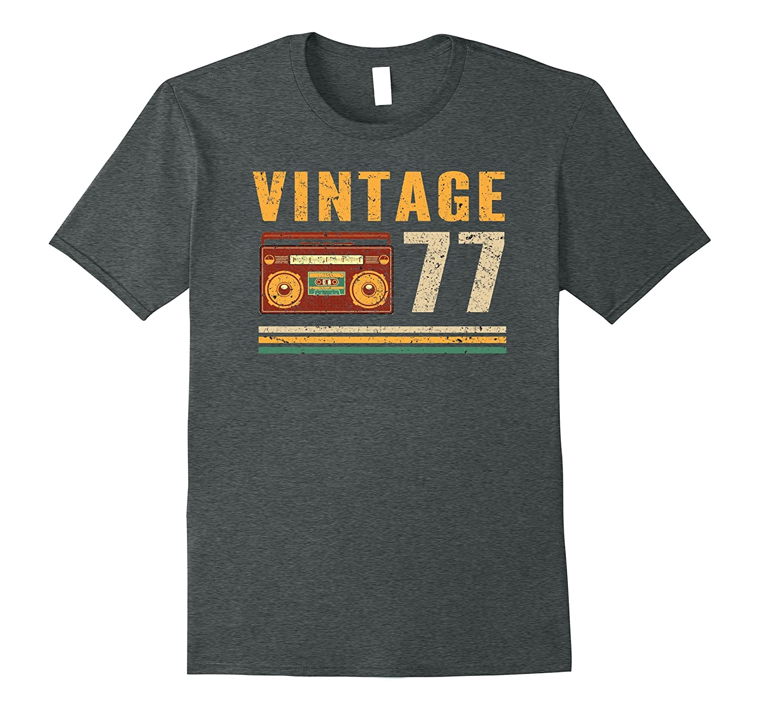 Vintage 77 - 40 Years Old 40th Birthday Gift Tshirt-T-Shirt