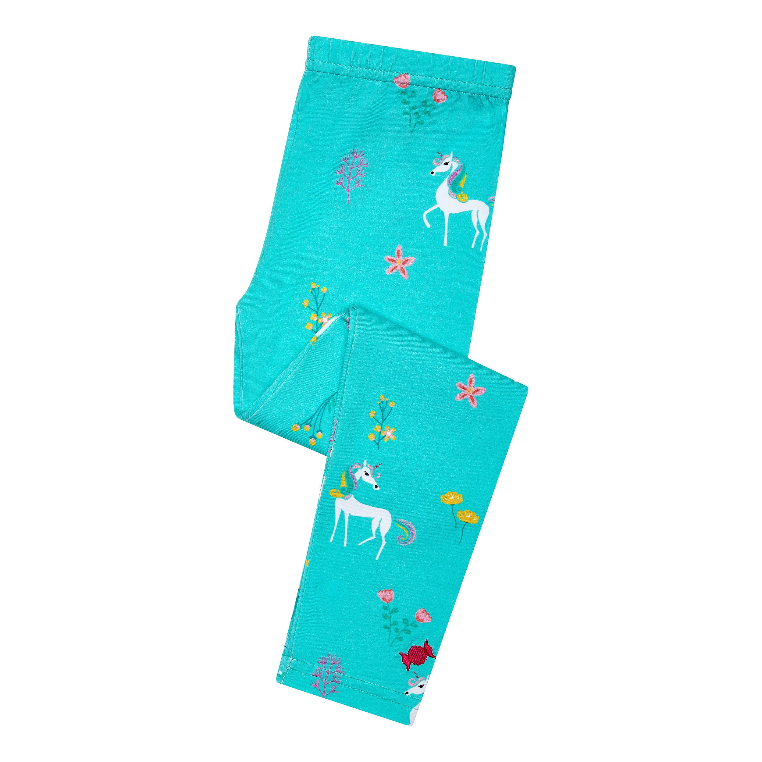 BonBon Clouds Girls Leggings Unicorns - 95% Cotton and 5% Spandex - Active Wear for Babies, Toddlers and Kids (5/6) by BonBon Clouds (Image #2)