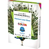 Hammermill Glossy Paper, Laser Gloss Copy Paper, 8.5 x 11 - 1 Pack (300 Sheets) - 94 Bright, Made in the USA Glossy…