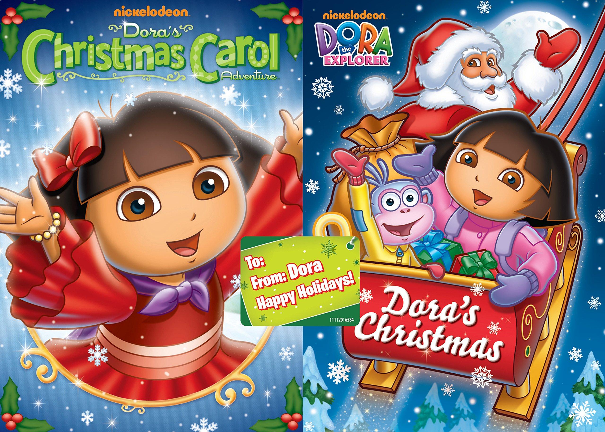 Amazon Paramount Dora The Explorer Christmas Carol Adv 2pk Dvd Side By 0097360754247 DORA THE EXPLORER Books