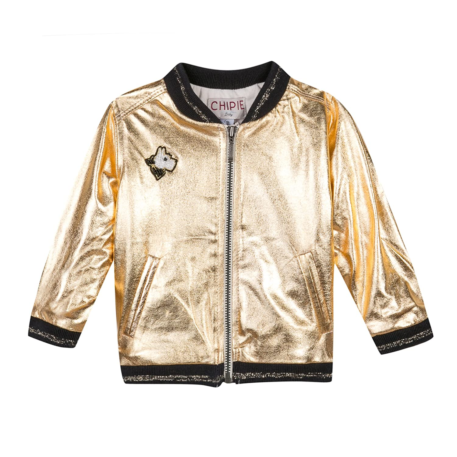 CHIPIE Baby Girls' Esmeralda Sports Jacket Gold (Or 74) 9-12 (Size: 9 Months) 8K17030