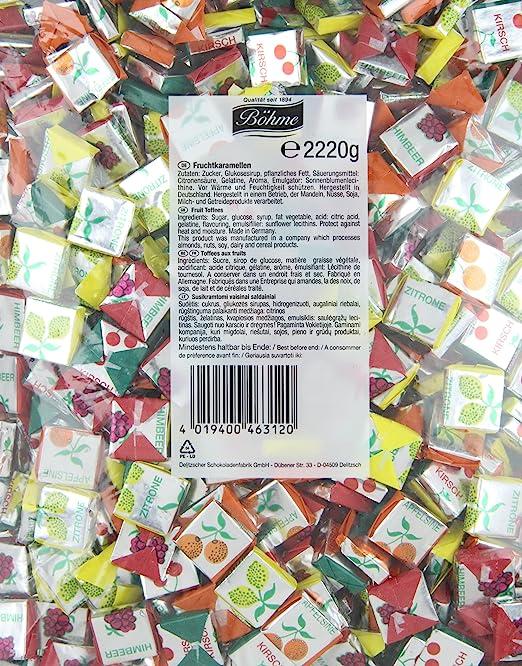 BÃ ¶ HME fruchtkaramellen, 1er Pack (1 x 2220 G): Amazon.com ...