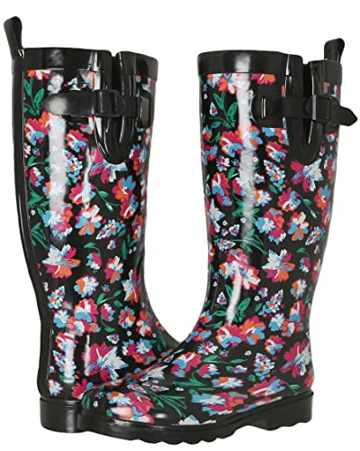 Amazon.com | Capelli New York Ladies Tall Cozy Lining Rain Boots ...
