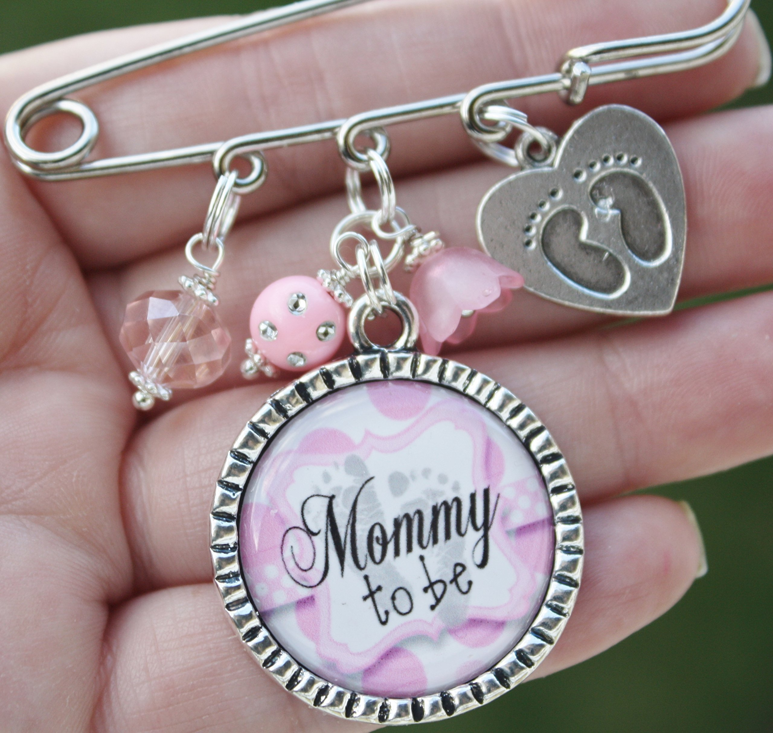 Personalized Nana Mom Aunt Grandmother to be Baby shower kilt Pin It's a Boy Girl unique birth gender announcements expecting big news