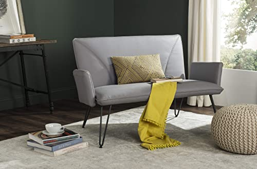 Safavieh Home Collection Johannes Mid-Century Modern Grey Settee