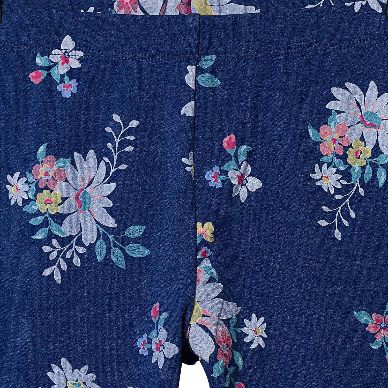 bossini Delight Girls Flower Print Leggings US Size 5//6-16,Blue