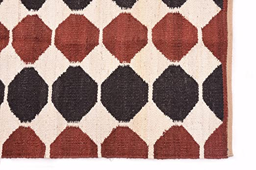 121x182 cm Indio hecho a mano Kilim alfombra Kilim Yoga Mat ...