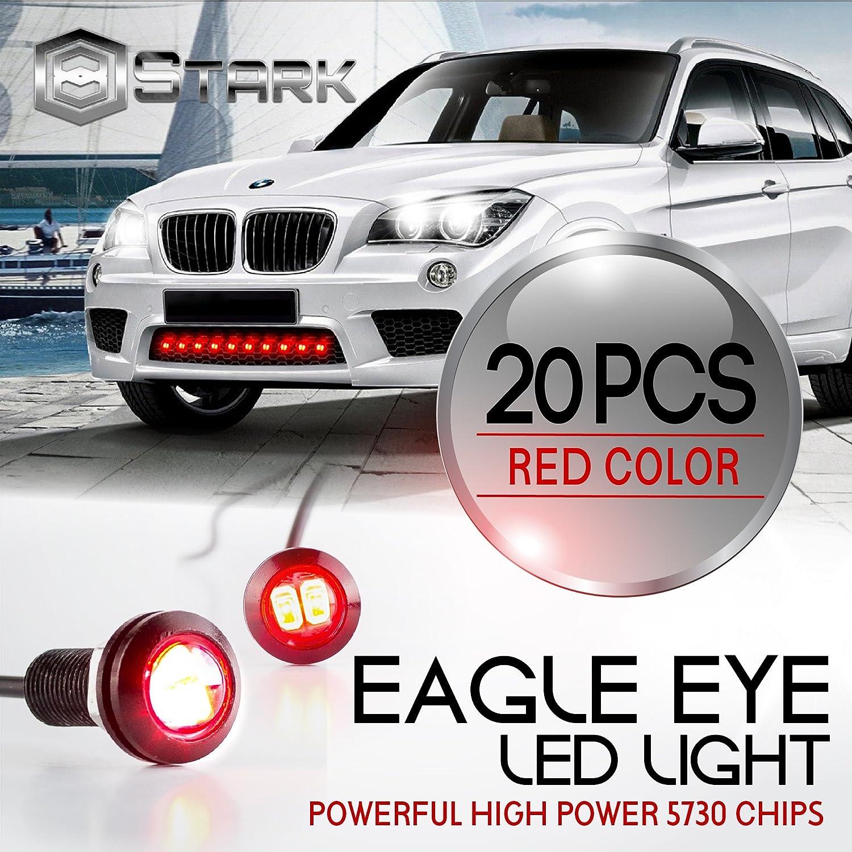 Eagle Eye 18mm 5730SMD High Power LED Fog Light DRL Backup Signal Bulbs 20 Pieces White