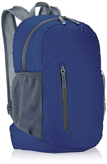 18cdac0337d0 AmazonBasics Ultra thin Foldable Day Pack - Navy Blue