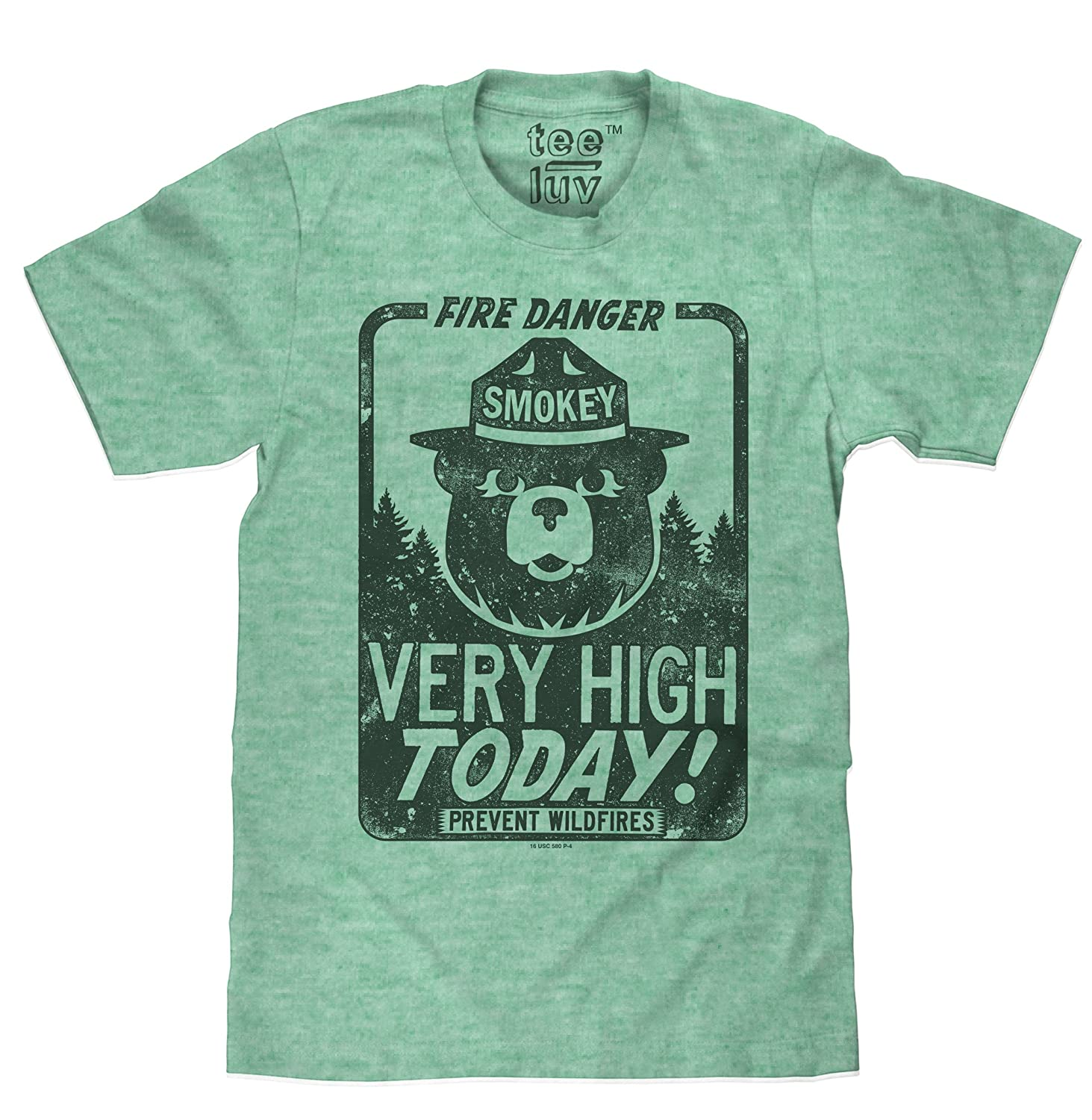 Smokey The Bear Fire Danger Very High Today | Big & Tall Soft Touch Tee Tee Luv