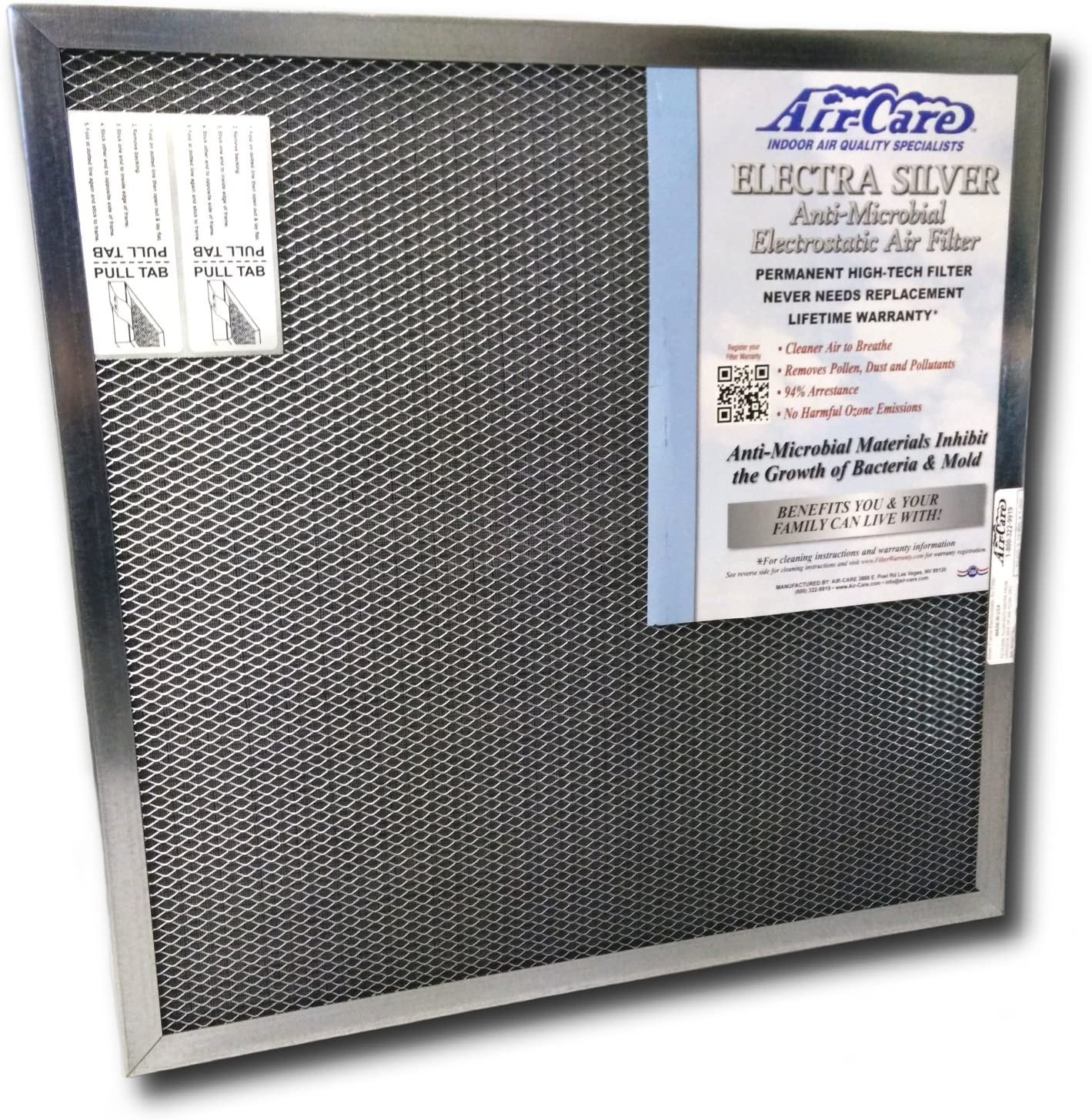 19-7/8 x 21-1/2 x 1 Electrostatic Washable Permanent A/C Furnace Air Filter 19-7/8x21-1/2x1