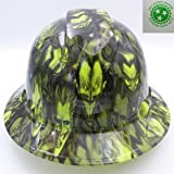 Wet Works Imaging Customized Pyramex Full Brim Green Jokers Gone Wild Hard Hat With Ratcheting Suspension