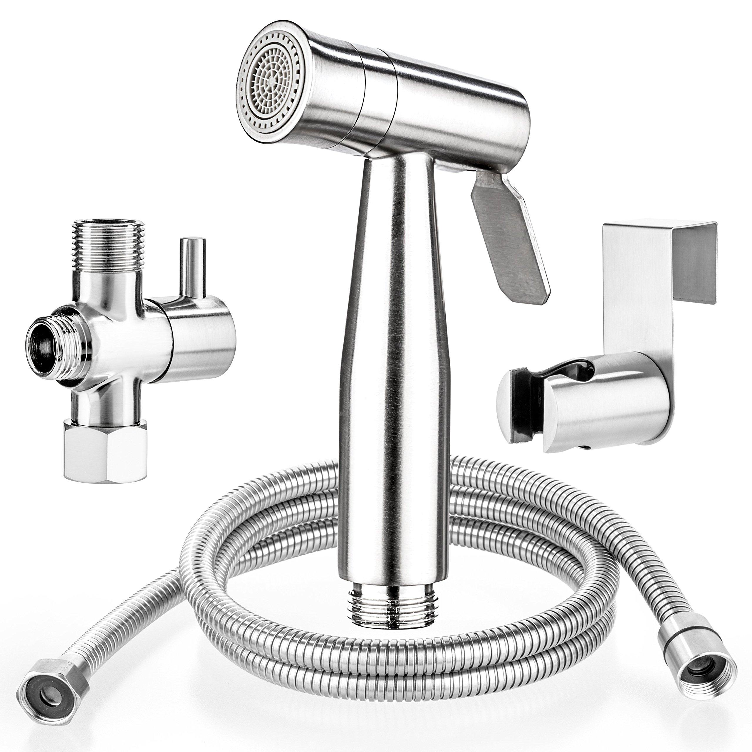 Bidet Sprayer - Diaper Sprayer - Handheld Bidet - Bidet Toilet - Stainless Steel Cloth Diaper Sprayer Cleaning - Bidet Toilet Washer - Hand Held Toilet Sprayer for Self Cleaning
