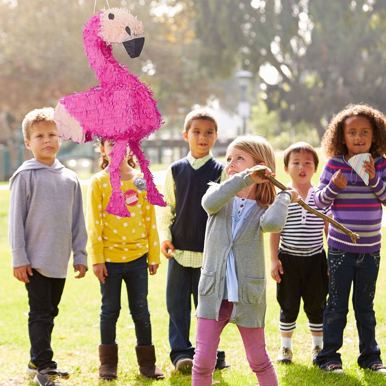 Pink Birthday Girls Children Relaxdays Hanging Flamingo Pinata Fillable HxWxD: 80 x 40 x 14 cm