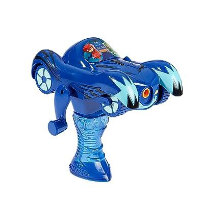 Little Kids PJ Masks Catboy Cat-Car Bubble Blower Vehicle with 4oz of Bubble Solution Toy, Blue