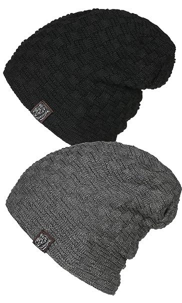 2aaab4fd3e8 Zando Winter Warm Comfort Ski Skull Caps Hats Men Women Slouch Cable Knit  Toque Chunky Funky