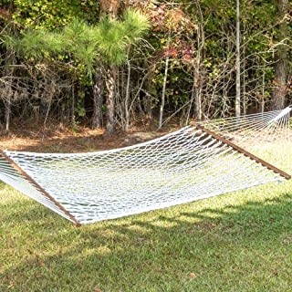 product image for Hatteras Hammocks P-11 Small Polyester Rope Hammock with Free Extension Chains & Tree Hooks, Handcrafted in The USA, Accommodates 1 Person, 450 LB Weight Capacity, 13 ft. x 60 in.
