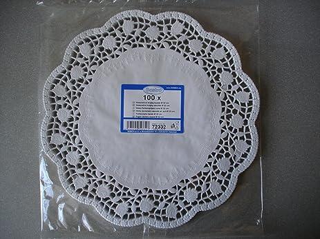 Large Doilies. 100 Pcs Round Lace Paper Plates on a Table. Diameter 12.6 Inches & Amazon.com: Large Doilies. 100 Pcs Round Lace Paper Plates on a ...
